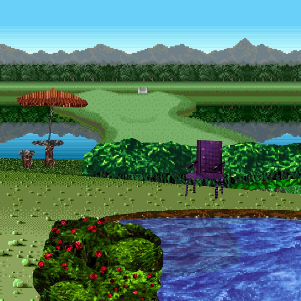 Illustration using reconfigured samples of 16 bit pixel art by Max Allison